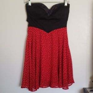 Black and Red polka dot dress